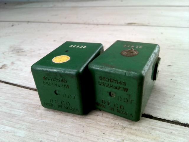 DAEWOO LANOS 01- Relé zöld szinű bontott alkatrész