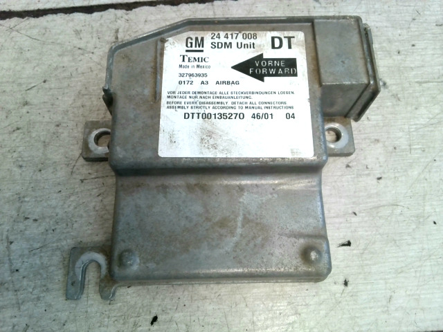 OPEL CORSA C COMBO 00.09-11.09 Légzsákvezérlő elektronika bontott alkatrész